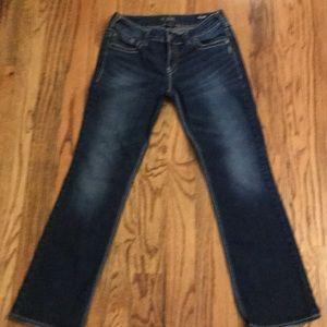 Silver Dark Jeans